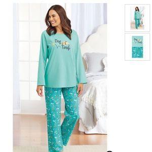 NWOT Anthony Richards dog tired pajama set.